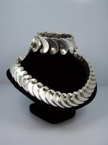 Antonio Pineda Vintage Mexican Silver Wave Necklace