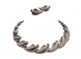 Antonio Pineda Vintage Mexican Silver Leaf Necklace