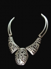 Salvador Teran Vintage Mexican Silver Necklace and Earrings