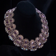 Matl Matilde Poulat Jeweled Vintage Mexican Silver Necklace