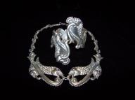 Vintage Mexican Silver Fish Clamper / Bracelet