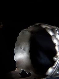 Gerardo Lopez Vintage Mexican Silver Bracelet Clamper