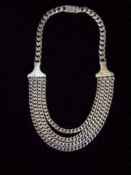 Pre 48 Vintage Mexican Silver Necklace by Saul