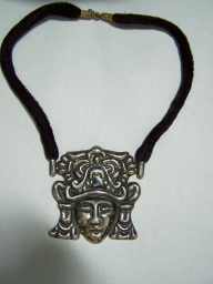 Repousse Vintage Mexican Silver Aztec Bracelet/Necklace