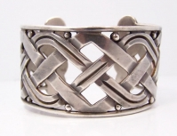 Hector Aguilar X O Vintage Mexican Silver Bracelet