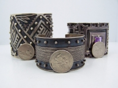 3 Bernice Goodspeed Vintage Mexican Silver Rare Cuffs
