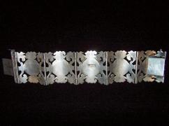Vintage Mexican Silver Tourist Bracelet W/ Scenes