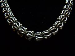 Antonio Pineda Vintage Mexican Silver Chain Necklace