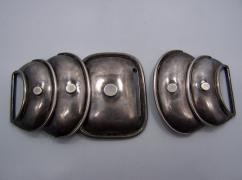 Hector Aguilar Vintage Mexican Silver Armadillo Buckle