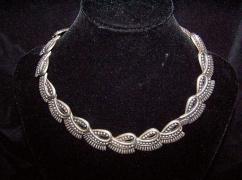 Los Castillo Vintage Mexican Silver Necklace