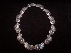 Los Castillo Vintage Mexican Silver Necklace Taxco