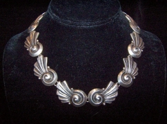 Los Castillo Vintage Mexican Silver Necklace Taxco