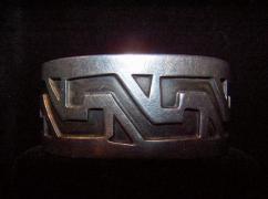 Rafael Dominguez Vintage Mexican Silver Cuff Book Piece