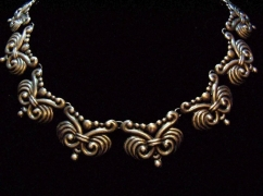 Los Castillo Vintage Mexican Silver Necklace #543