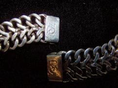 Blue Stone Vintage Mexican Silver Neck-Brace-Er