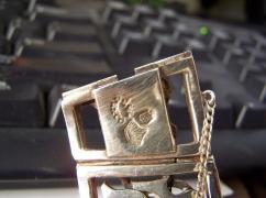 Antonio Pineda Vintage Mexican Silver Cut Work Bracelet