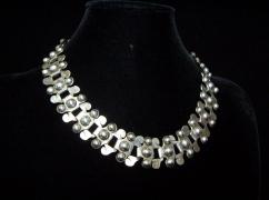 980 Taxco Book Piece Vintage Mexican Silver Necklace