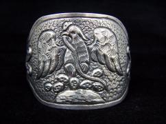 Maciel Vintage Mexican Silver Eagle Pair of Cuffs