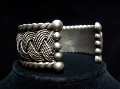 Hector Aguilar Vintage Mexican Silver Braided Cuff