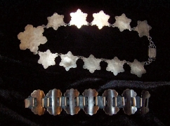 Taxco Vintage Mexican Silver Chrysanthemum Necklace