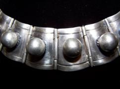 Porcayo Pre 48 Mexican Silver Ball Necklace Vintage