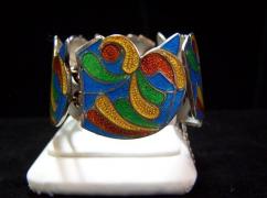 Margot de Taxco Vintage Mexican Silver Bracelet # 5662