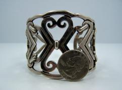 Vintage Mexican Silver Heavy Fabulous Bracelet