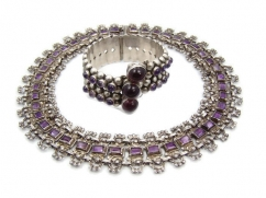 Matl Matilde Poulat Vintage Mexican Silver Old Amethyst Necklace