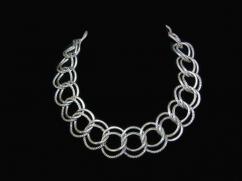 Parisina Maricela Boucher Vintage Silver Necklace Bracelet Set