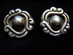 William Spratling Vintage Mexican Silver Earrings