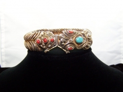 Matl Vintage Mexican Snake Bracelet Silver Oldest Mark