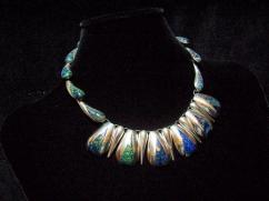 Ledesma Vintage Mexican Silver Necklace Earring Set