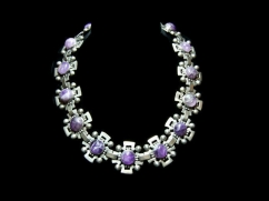 Fred Davis Rare Mexican Silver Amethyst Necklace