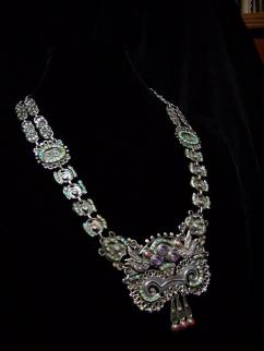 Matl Vintage Mexican Silver Necklace Matilde Poulat