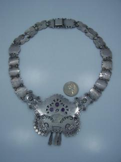 Matl Matilde Poulat Vintage Mexican Silver Necklace