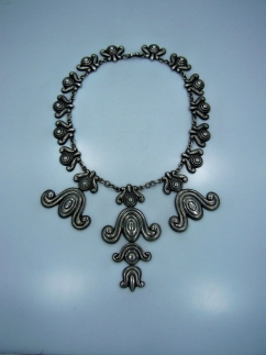 980 Los Castillo 246 Vintage Mexican Silver Necklace