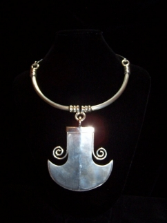 Tane Vintage Mexican Silver Tarascan Necklace