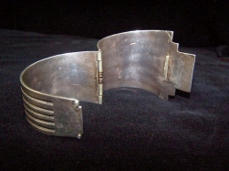 Large Mexican Silver Modernistic Bracelet Outstanding