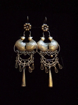 Federico Jimenez Large Mexican Silver Bird Earrings