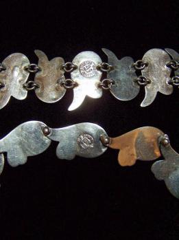 Graceful Mexican Silver Repousse Necklace / Bracelet