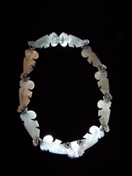 Exquisite Mexican Silver Vintage Necklace