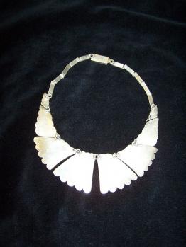 Striking Munoz Vintage Mexican Silver Necklace