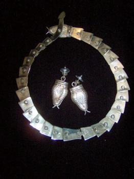 Mexican Silver Snake Necklace Margot Design