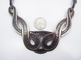 Margot de Taxco design # 5100 Vintage Mexican Silver Necklace