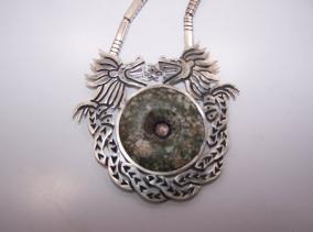 Los Castillo Pre Columbian Mexican Silver Necklace Set