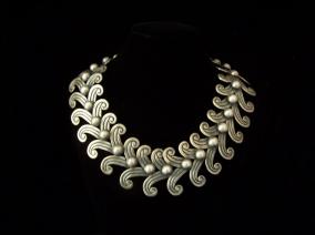 Margot de Taxco Vintage Mexican Double Swirl Necklace