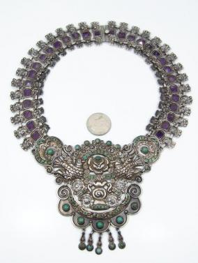 Matl Matilde Poulat Vintage Mexican Silver Old Palomas Necklace