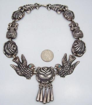 Matilde Poulat Matl Vintage Mexican Silver Palomas y Roses
