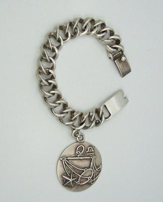 Margot de Taxco Libra Vintage Mexican Silver Bracelet
