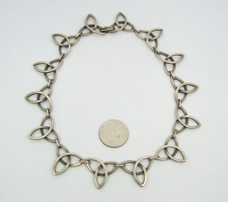 Reveriano Castillo Vintage Mexican Silver Atomic Necklace
